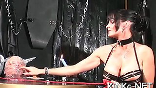 babe makes slave waiter on her movie