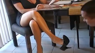 Playing with Mom's Pantyhose Feet