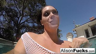 Alison Tyler in Buxom Alison Tyler Takes A Bath And Rubs Herself Down - AlisonTyler