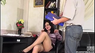 Oral Sex While the Boss Talks on the Phone!