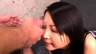 Cute Asian chick with tiny tits gets used by a group of boys