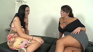 Horny pornstars Alura Jensen and Megan Foxx in best milfs, big butt xxx movie