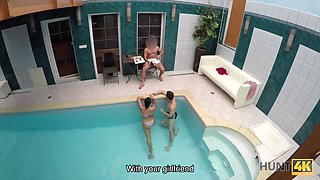 Cuckold doesn't know his lovely brunette sells her body -2