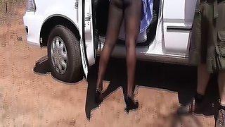 wild threesome african sex orgy