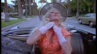 Foxy Blonde Babe Edy Williams Changes Clothes In a Moving Car