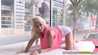 modeling euro fucks in public truck on street