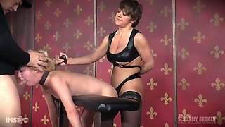 blonde odette delacroix gets dominated and fucked by a kinky couple