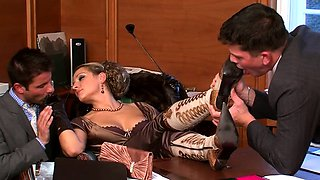 Hot bdsm festish with mistress spanking her thrall hard