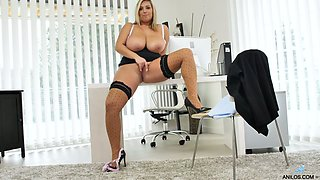 Crystal Swift is chubby big breasted secretary who wanna go solo a bit