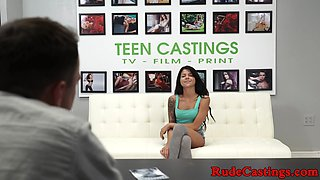 Real tiny casting amateur gets hardfucked