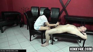 Hot mistress domination and cumshot