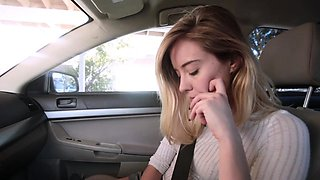 Haley Reed giving step bro a blowjob in the car
