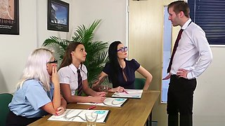 Office Cfnm Babes Dicksucking Passionately