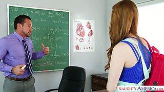 Seductive college chick Gwen Stark seduces handsome teacher