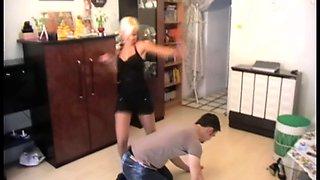 Young Mistress kicks slaves