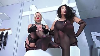 Goddess brianna and mistress Tangent feet in nylon