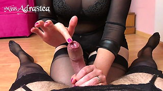 Your ruined orgasm just amuses your Mistress!