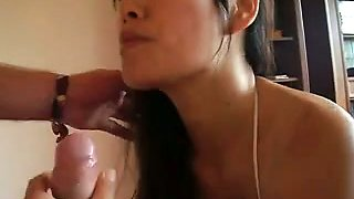 Neighbor's sexy 18 yo Filipina daughter loves my big white cock