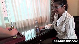 Chubby Asian Secretary Blows Her Boss