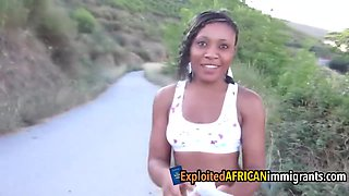 African Amateur Teen Pleases White Cock for Cash