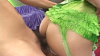 A totally insane orgy with a group of naughty oriental chicks