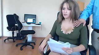 Nice Teasingshow in the Office (3)