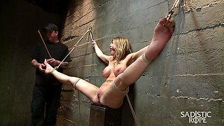 Carissa Montgomery in Bit Tit Milf In Extreme Bondage - SadisticRope