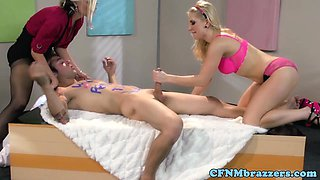 Alena Croft and Ashley Fires rule over him
