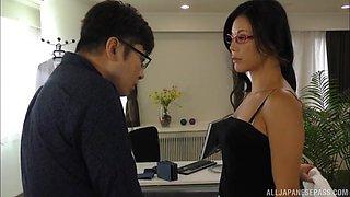 Beautiful Japanese secretary Katase Hitomi has a class and gets fucked hard
