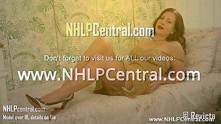 Brunette babe frigs herself in retro lingerie vintage nylons