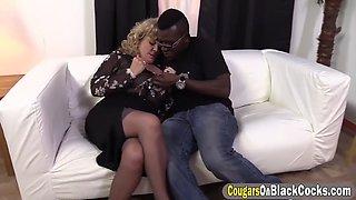 black bloke pounding a round ass bbw cougar
