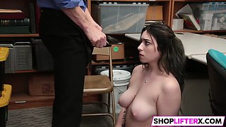 busty cutie thief gets slamm punished