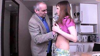 Pretty schoolgirl was seduced and reamed by her senior schoo