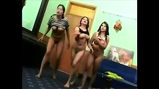 Busty girl flashing boobs on webcam