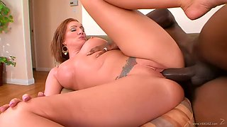 Moaning babe with bbc