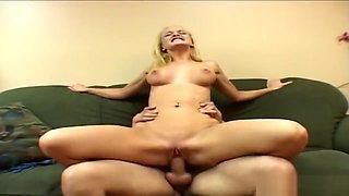 Big ass blonde chick is having naughty fun
