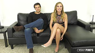 Bending Britney Amber over to wreck her cock-craving little clit