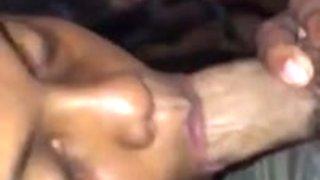 Latina give sensual blowjob