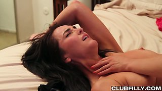 Raven haired petite hottie Bianca Breeze had stout sex with her small titties kooky in bed