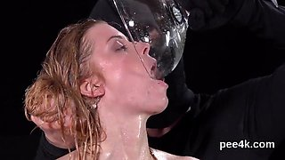 Adorable idol gets her juicy vulva absolute of warm piss and bursts