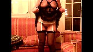 Mature in lingerie &amp crossdresser (homemade)