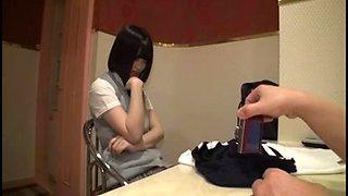 Japanese Schoolgirl in Hotel