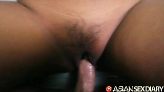 Asian Sex Diary - Two Filipina girls one big white cock