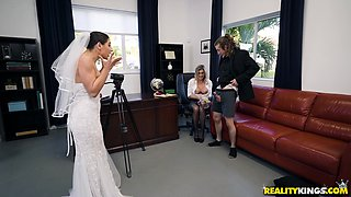 Bride Abella Danger in a passionate threesome with a hot milf