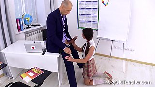 Tricky Old Teacher - This perverted old teacher