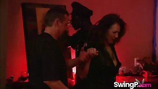 horny swingers pleasing each other
