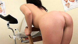 Slutty doctor is pleasant his wicked patient, in the office