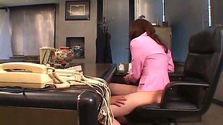 Using an egg love sex toy lewd dude teases office boss Maria Fujisawa