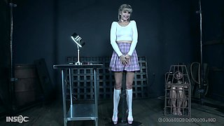 Pretty blonde cutie Dolly Mattel humiliated and abused hardcore