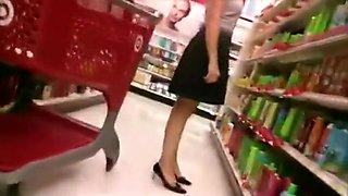 Excellent upskirt at Target